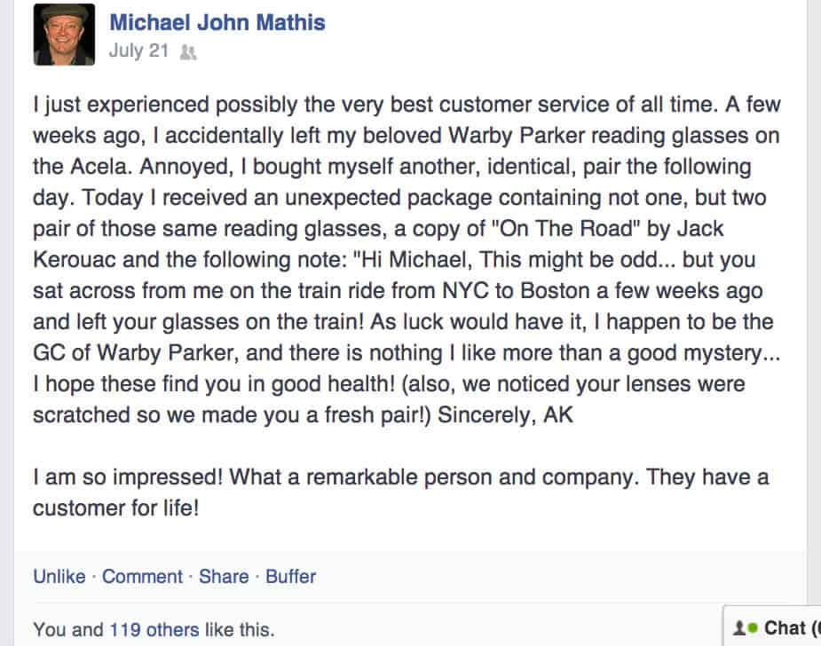 warby parker customer service reviewed