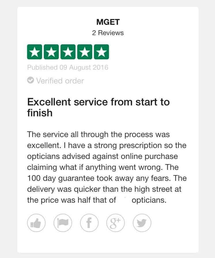 smartbuyglasses customer review