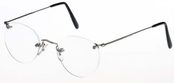 Savile Row 18Kt Diaflex Panto Eyeglasses frameless prescription glasses