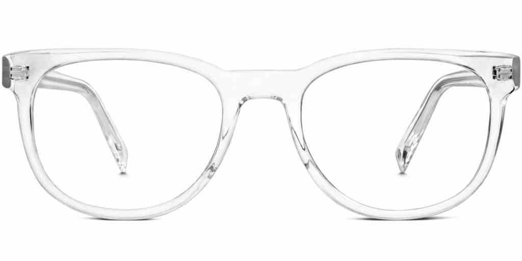 carver clear frame prescription glasses