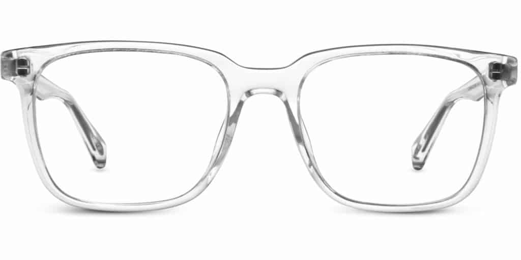 chamberlain clear frame prescription glasses