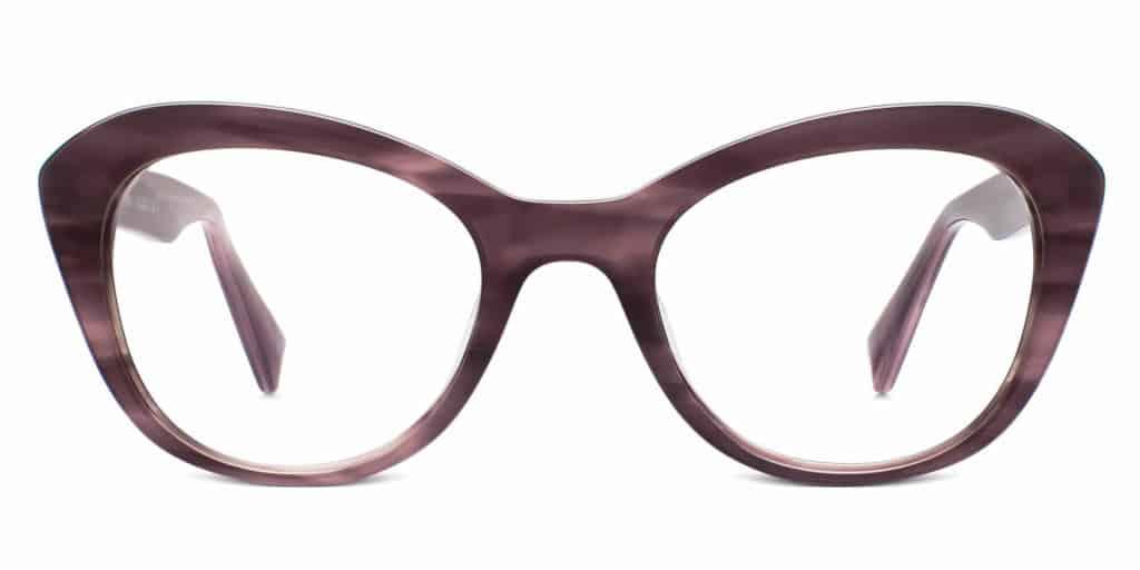 goodney heathered plum cat eye glasses