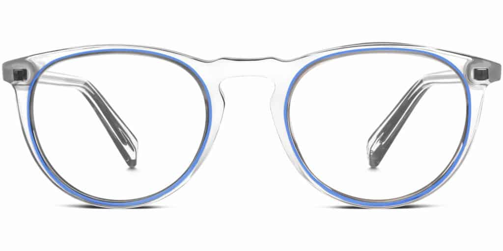 haskell clear frame prescription glasses
