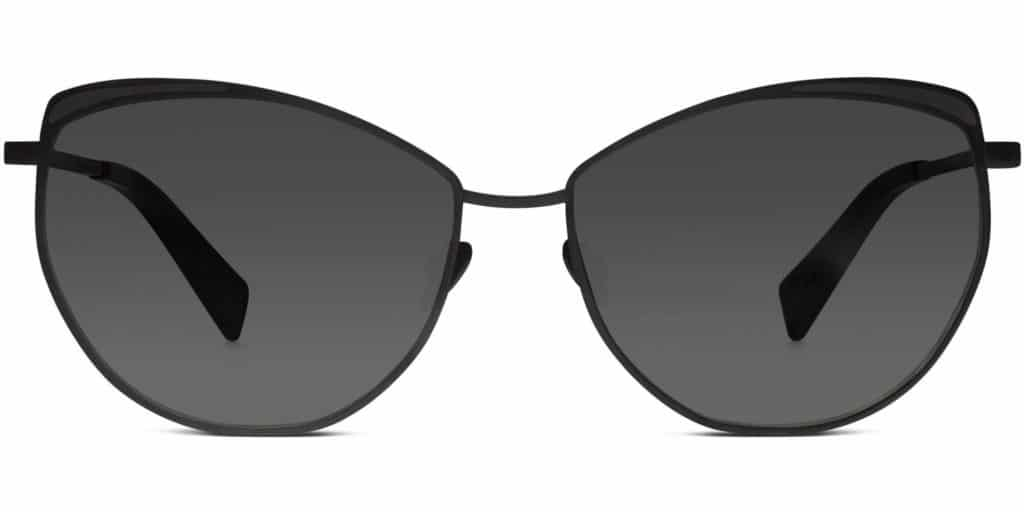 ivy brushed ink cat eye sunglasses
