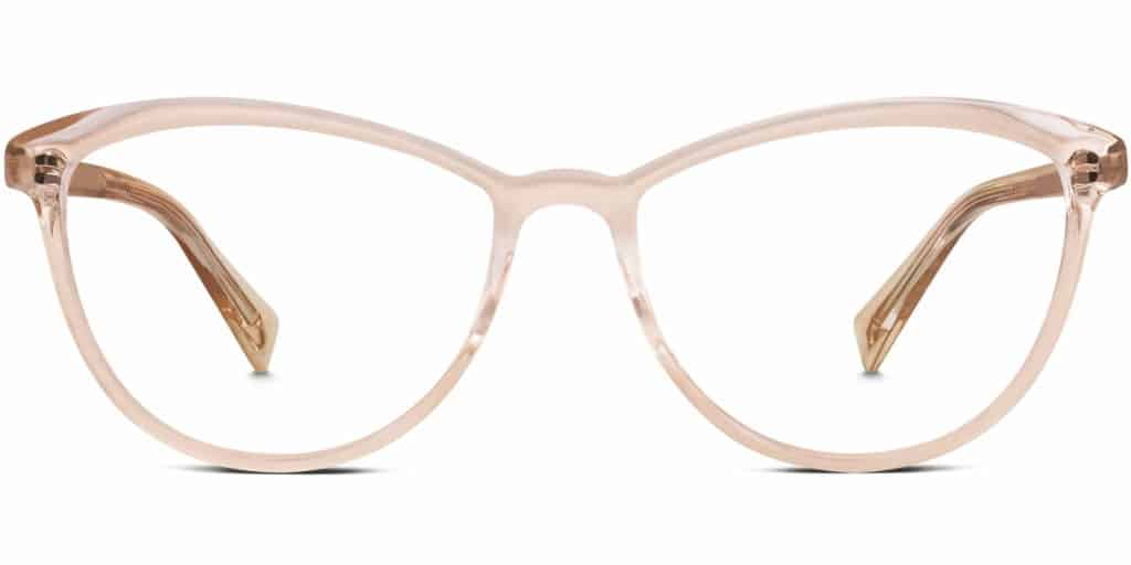 louise clear frame prescription glasses