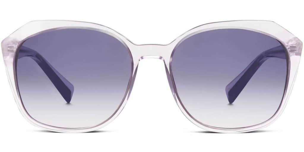 nancy clear frame sunglasses