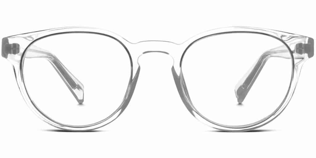 percey clear frame prescription glasses