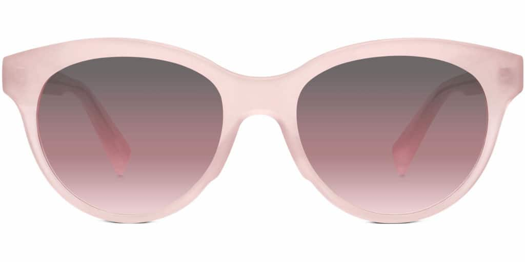 piper rose quartz cat eye sunglasses