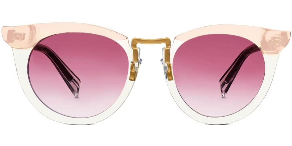 zelda crystal taupe cat eye sunglasses