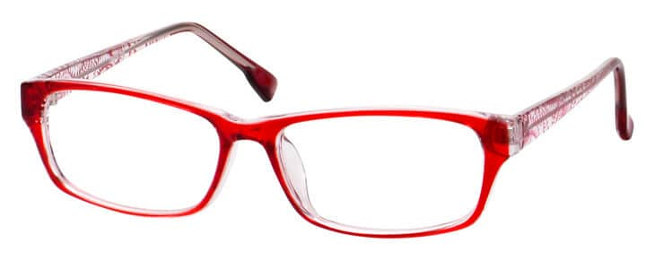39 glass red frame
