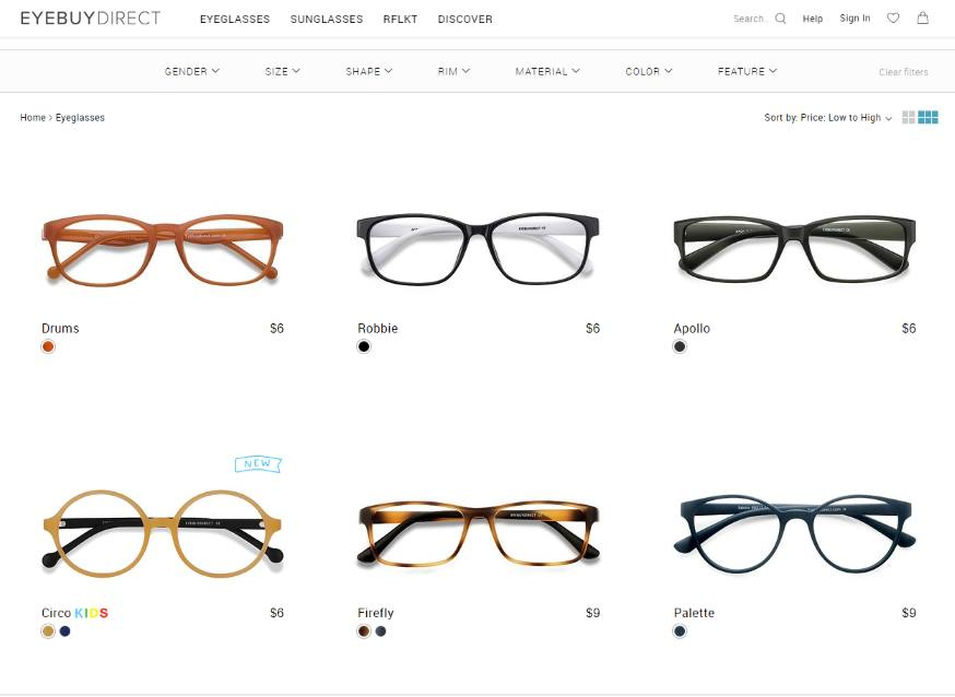 eyebuydirect $6 glasses