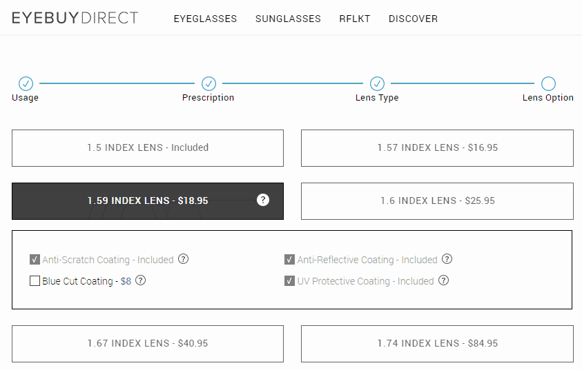 eyebuydirect lens indexes