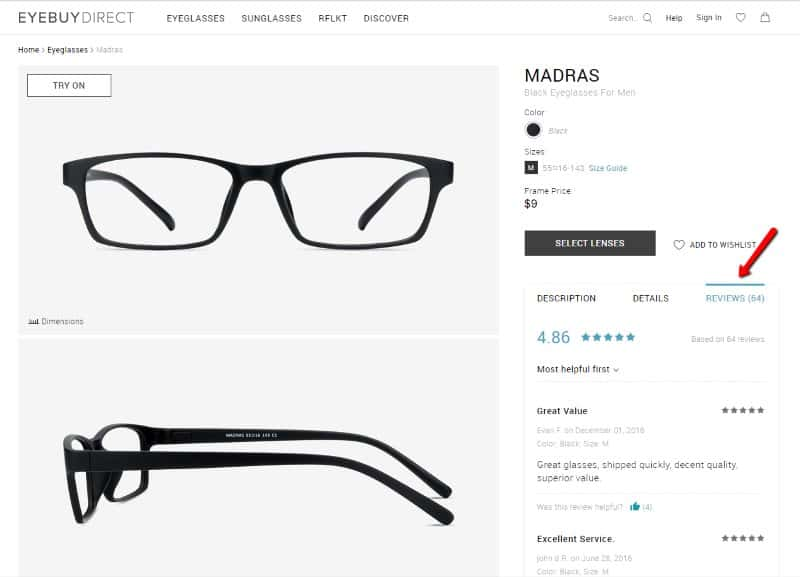 eyebuydirect customer reviews