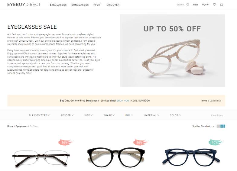 eyebuydirect sale