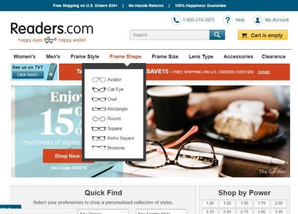 readers.com homepage