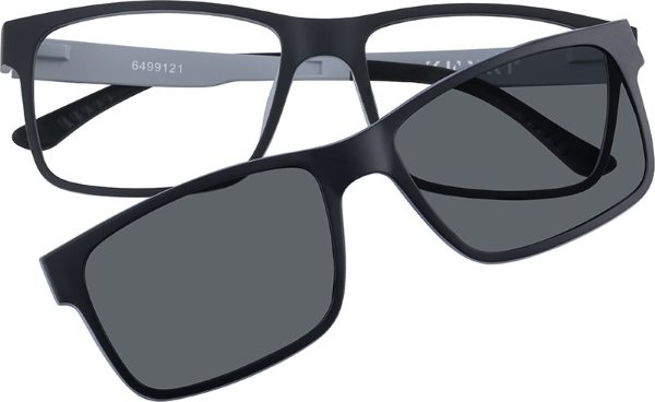 zenni frame with clip on shades