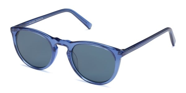 warby parker haskell sunglasses in blue crystal