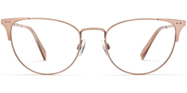 warby parker ava rose gold