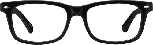 zenni classic black rectangle glasses