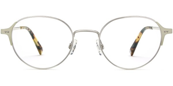 warby parker cole polished silver
