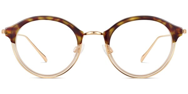 warby parker saylor layered cognac with polished gold