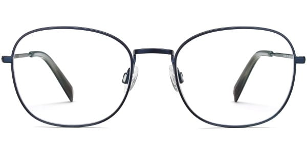 warby parker wilcox brushed navy