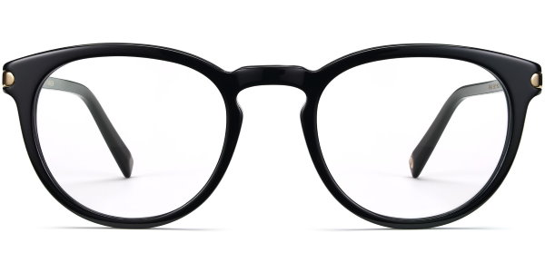 warby parker hugo jet black with gold