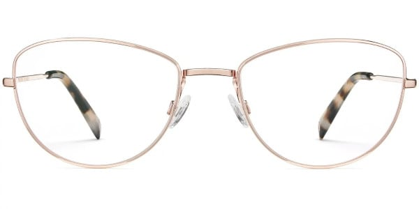 warby parker georgia rose gold