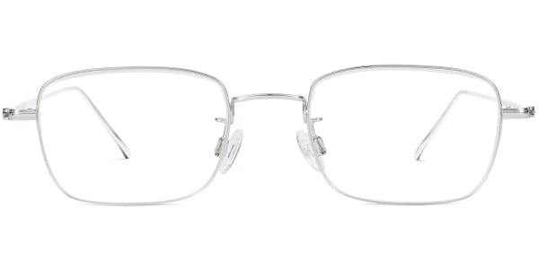 warby parker brookner polished silver