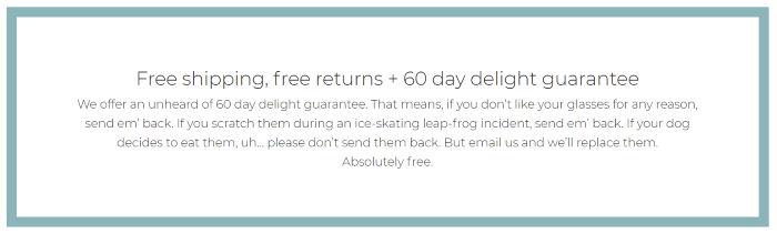 liingo 60-day return or exchange policy