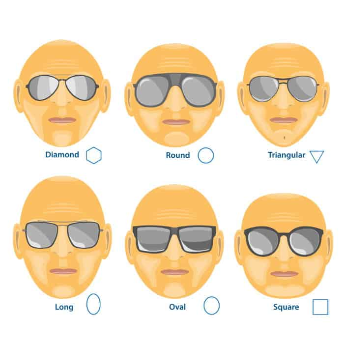 A bald what head suit glasses Sunglasses for
