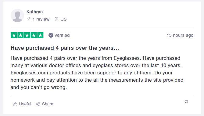 eyeglasses.com 5 star review