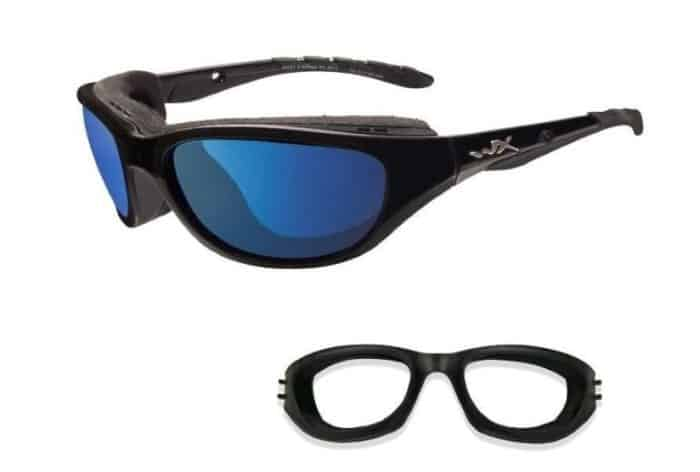 wiley x airrage blue mirror lenses