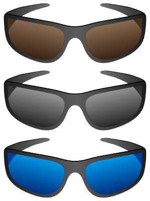 sport sunglasses with different lens colors