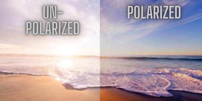 unpolarized vs polarized beach