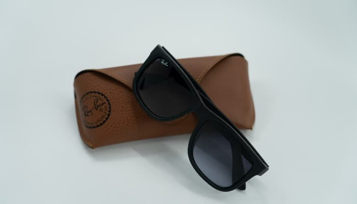 ray-ban sunglasses on case