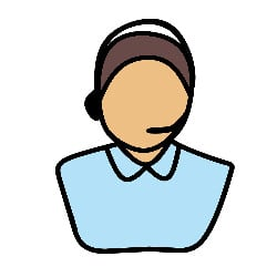 illustrated male with headset