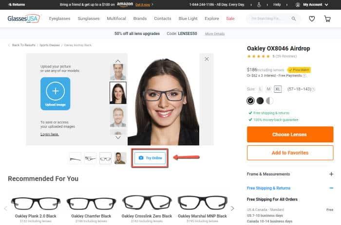 glassesusa virtual try on